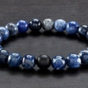 Other - Men's Natural Healing Stone Stretch Bracelet